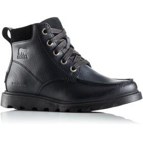 Sorel Youth Madson Moc Toe Waterproof Shoes Black/Black